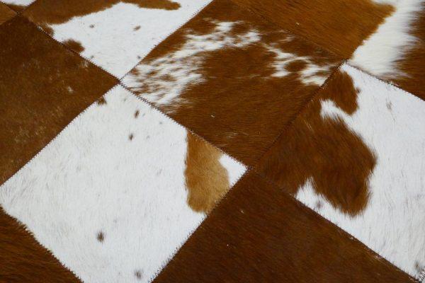 Alfombra piel patchwork 20X20 en Olbe Textil