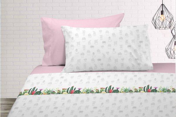 Juego sabanas Cactus dib.211 en Olbe Textil