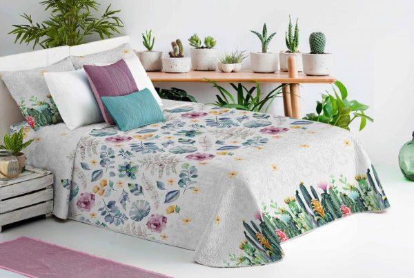 Colcha Bouti Cactus dib. 210 en Olbe Textil