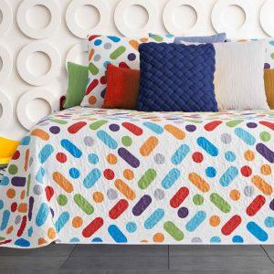 Colcha Bouti Colors dib. 248 Reversible en Olbe Textil
